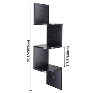 3 Tiers Wall Mounted Corner Shelf Wood Storage Organizer Holder with Gradienter for Sale in Chino, CA
