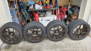 """Nitto 555r on forgestar rims 10.5""""r 9.5""""f for Sale in Greenacres, FL"""