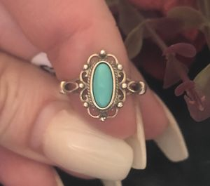 Size 5 turquoise sterling silver 925 ring Victorian style for Sale in Denver, CO