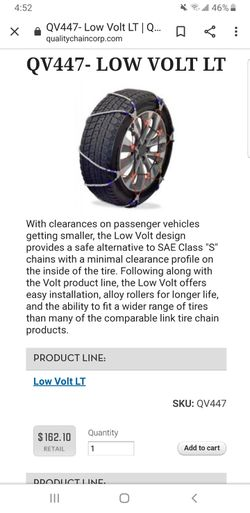 Snow Chains, Lightning Cable for Sale in Corona,  CA