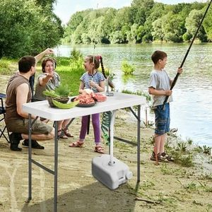 Goplus Folding Fish Table Hunting Cleaning Cutting Camping Sink Faucet w Sprayer New for Sale in Hacienda Heights, CA