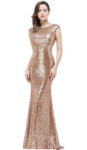 Rose gold long dress for Sale in Friendswood, TX