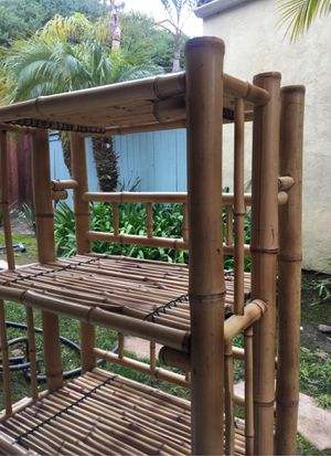 Bookcase/Shelf unit bamboo for Sale in San Clemente, CA