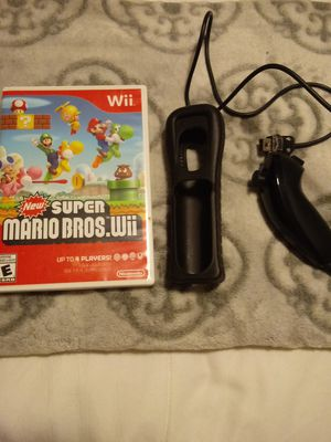 Wii Mario game and joystick also rubber remote convert for Sale in San Jose, CA