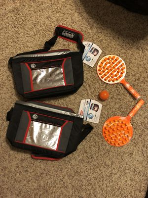 2 Coleman Coolers and Beach tennis set for Sale in Nashville, TN