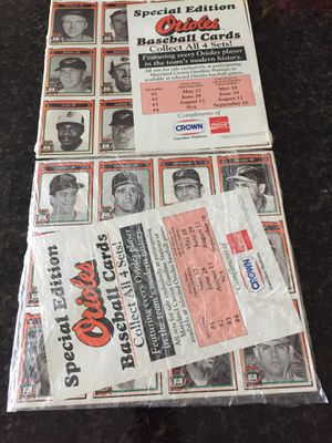 1991 Baseball Cards Special Edition Orioles for Sale in Winter Springs, FL