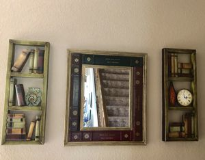 Beautiful, rare, vintage mirror Book Frame with matching side pieces for Sale in Estero, FL