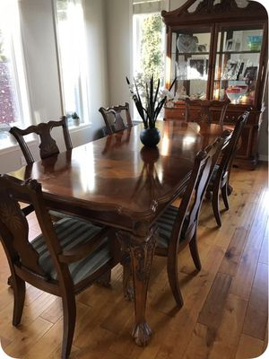 Dining Room Table and Armoire for Sale in Bonney Lake, WA