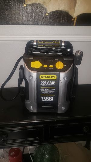 STANLEY 500 AMP JUNP START SYSTEM WITH COMPRESSOR AND USB PORTS FOR PHONE CHARGING for Sale in Phoenix, AZ