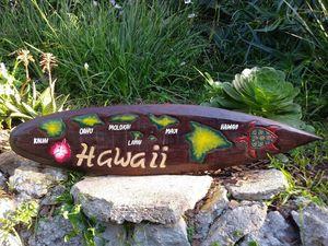 """Hawaiin Islands Surfboard Decor 39"""" for Sale in Rocklin, CA"""