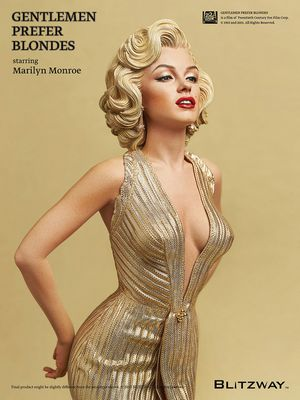 Extremely rare Japanese import blitzway marilyn Monroe statue. Sideshow collectibles gentlemen prefer blonds movie figure for Sale in Las Vegas, NV