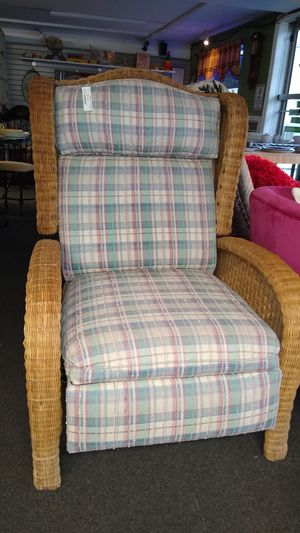 Reclining Wicker Chair $175 for Sale in Warminster, PA