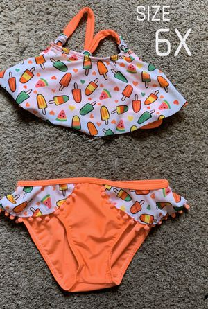 Girl's Popsicle 2 Piece Swim Suit 6X for Sale in Fontana, CA
