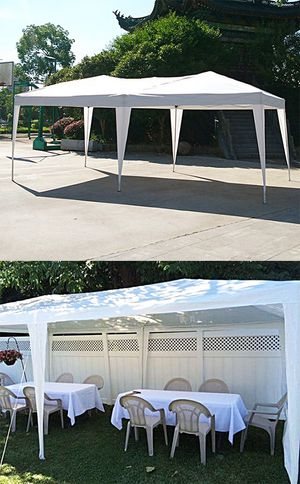 New in box $140 White color 10x20 ft EZ Pop Up Canopy Outdoor Sun Shade, Carrying Bag for Sale in Whittier, CA