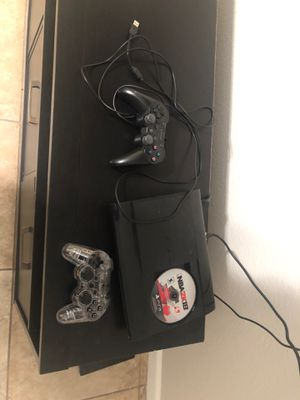 PS3 2 controllers and nba 2k 18 for Sale in Phoenix, AZ