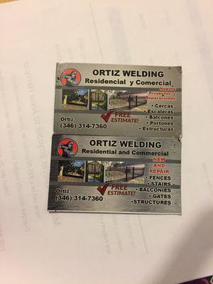 Ortiz welding for Sale in Houston, TX