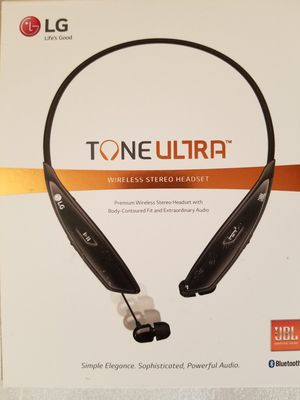 LG HBS-810 Tone Ultra Premium Wireless Bluetooth Stereo Headset for Sale in Dearborn, MI