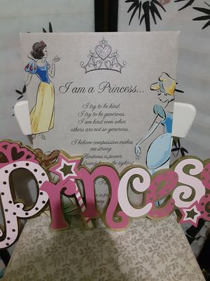 Princess Wall Decor $20.00 cash only (serious buyers) for Sale in Dallas, TX