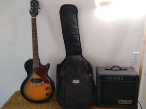 Les Paul Jr electric guitar, Crate GX15 amp and gig bag for Sale in Lafayette, CO