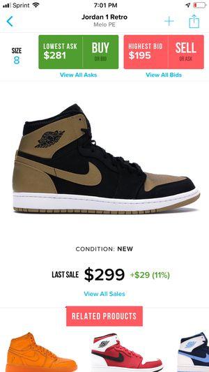 c69601a9bbd Nike Air Jordan 1 OG high Melo Pe sz 8 shattered backboard all star for Sale