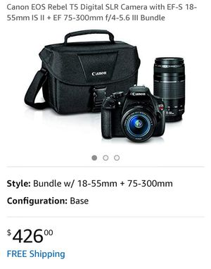 CANON REBEL T5 CAMERA KIT for Sale in Los Angeles, CA