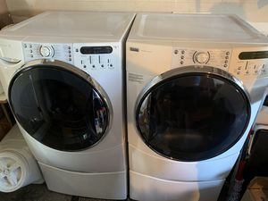 Kenmore Elite Front Load Washer/Dryer with Pedestals for Sale in Walnut Creek, CA