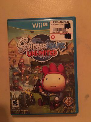 Nintendo Wii U scribble nauts unlimited for Sale in Visalia, CA