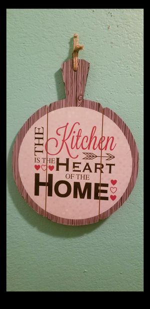 Kitchen Decor Sign Saying..Size 10x13..Brand New! for Sale in Modesto, CA