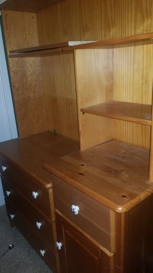 Wooden Dresser with Bookshelf Attachment for Sale in River Forest, IL