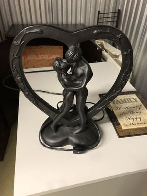 Lamp with Man and Woman kissing. Great for night stands and accents for Sale in Rockville, MD