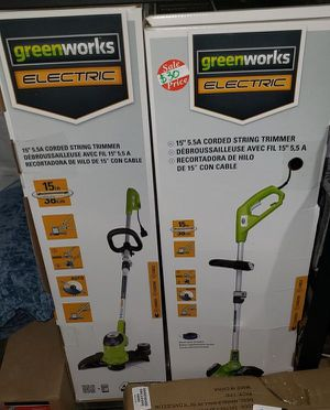 """GREENWORKS 15"""" CORDED STRING TRIMMER (3 AVAILABLE; $20 EACH) for Sale in China Grove, NC"""