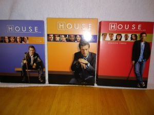 HOUSE md on DVD's Seasons 1,2 and3 for Sale in Canyon Lake, CA