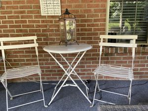 Bistro table & 2 chairs , does not include accessories for Sale in South Park Township, PA