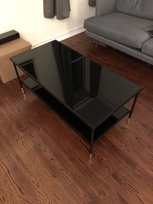 Black Glass Coffee Table for Sale in New York, NY