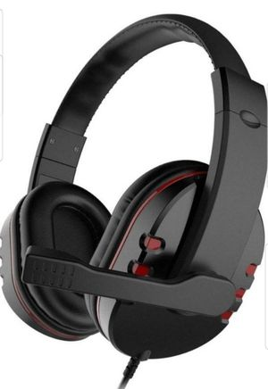 LESHP USB Wired Headphone with Stereo Micphone Fashion Gaming Headset Noise Cancelling Soft Memory Earmuffs for PS4 PS3 PC Game for Sale in Richardson, TX