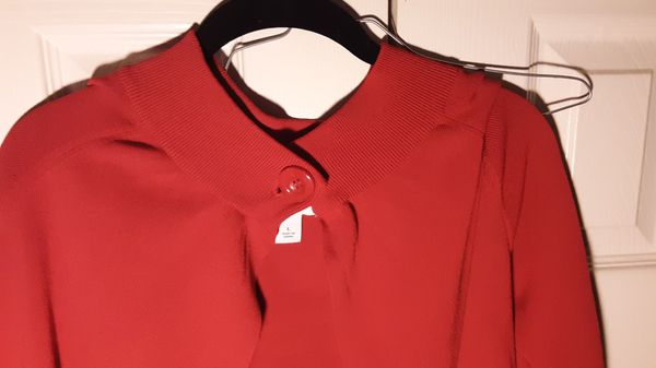 Size large ladies dress barn red cape. PayPal accepted no hassle returns. Read more.
