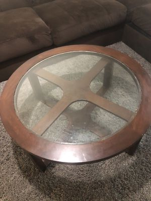 Round coffee table by Ashely furniture for Sale in Boston, MA
