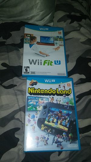 Two wii u video games: Nintendo land and Wii fit u for Sale in Clearwater, FL
