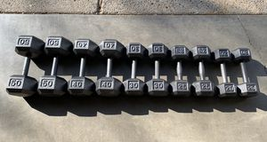 Weights 20-50lbs (330lbs Total) Hex Dumbbells Set for Sale in Happy Valley, OR