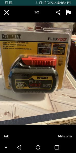 Dewalt 60v battery for Sale in Baton Rouge, LA