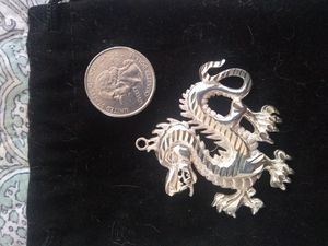 Sterling Silver Dragon Pendant .925 for Sale in Largo, FL