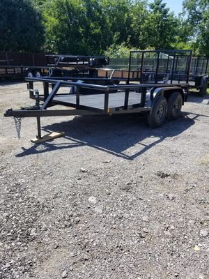 New 2019 Pipetop 12x76 Tandem trailer with 4ft tailgate and Brakes for Sale in Rockwall, TX