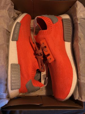 Brand new in box adidas NMD R1 primeknit size 10 trace orange for Sale in Portland, OR