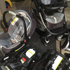 Stroller, Car Seat, 2xBases & Cover for Sale in Barre, MA