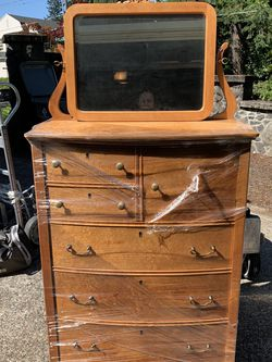 Antique Birdseye Maple Dresser And Mirror for Sale in Lake Oswego,  OR