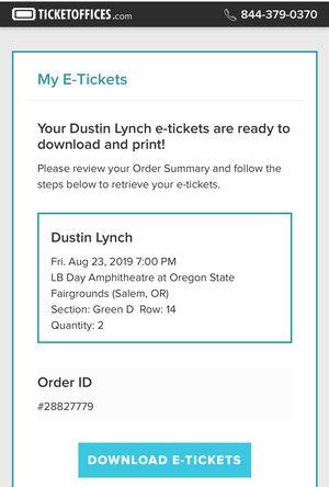 Tickets Dustin Lynch for Sale in Gresham, OR
