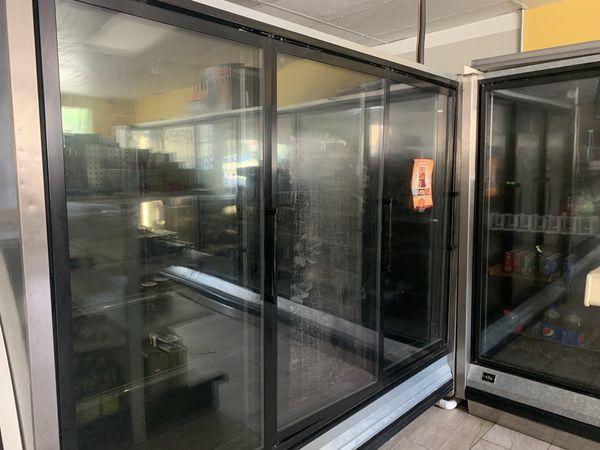 3 door cooler/freezer. Like new must see.