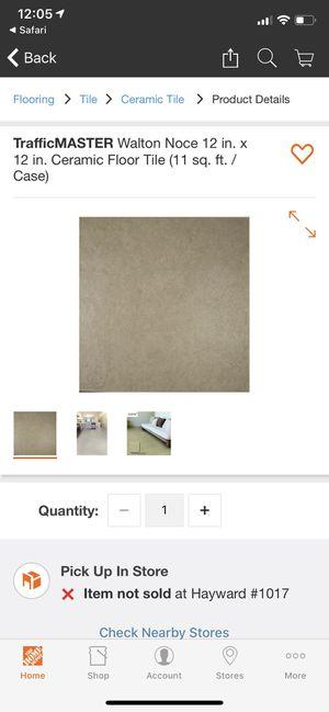 12x12 Ceramic Tile Walton Noce 11 cases for Sale in Hayward, CA