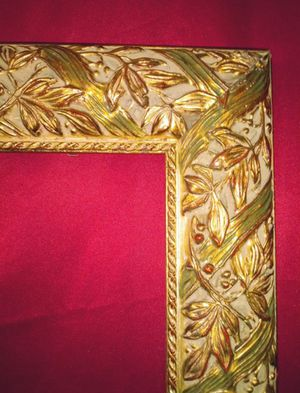 """XTRA Large Gold Ornate Wooden Picture Frame 35"""" x 46"""" inside / 42"""" x 53"""" outside for Sale in Winter Park, FL"""
