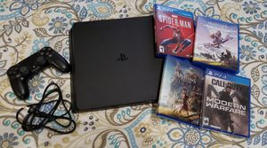 PS4 slim 1TB edition with Call of Duty Modern Warfare, Assassins Creed Odyssey, Marvel Spider-Man & Horizon Zero Dawn for Sale in Kuna, ID